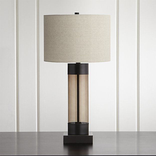Avenue bronze table lamp with usb port crate and barrelbarrel