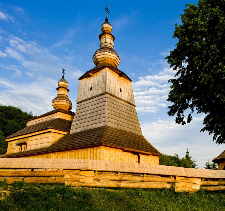 Wooden church in Mirola. Nestled in peacefull woods of north-eastern Slovakia the churches will reveal the mastery of local craftsmen and help you recover your inner harmony at this magical place. #Slovakia