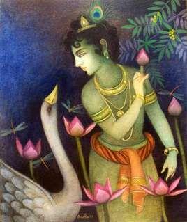 Artist Name: Bratin Khan, Title: Krishna