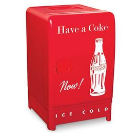 "This cool little beverage fridge will be the perfect addition to a rec room, dorm or man cave. With original Coca-Cola logo and details, this fridge is a blast from the past. ENERGY STAR® Qualified: No Mfg. number: CCR12 24 cu. ft. capacity Frost free Fixed wire shelf Can rack 5.7"" w. x 14.8"" d. x 20.6"" h."