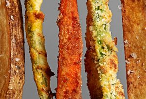 parmesan zucchini fries: Green Beans Fries, Carrots Fries, Baking Veggies, Picky Eater, Dips Sauces, Potatoes Fries, Zucchini Fries, Vegetables Recipes, Deep Fryer