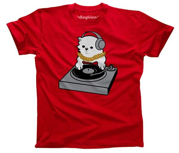 Yep. It's a cat on a turntable. It's cute, so check out the other DJ Kitty versions.