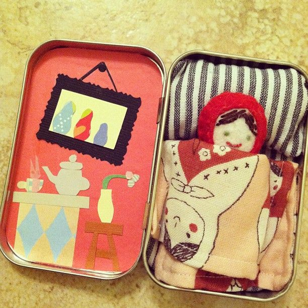 Mini Matryoshka Doll In Altoid Tin Home Love Tiny