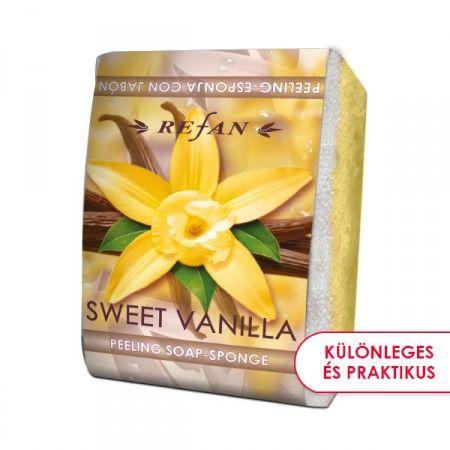 Édes Vanília szivacsos szappan - 2 az 1-ben bőrfeszesítő szivacsos szappan az édes vanília varázslatos illatával. Gyengéd bőrradírozó és feszesítő hatású. Mindennapi használata megelőzi a narancsbőr kialakulását, serkenti a vérkeringést. ©Refantázia