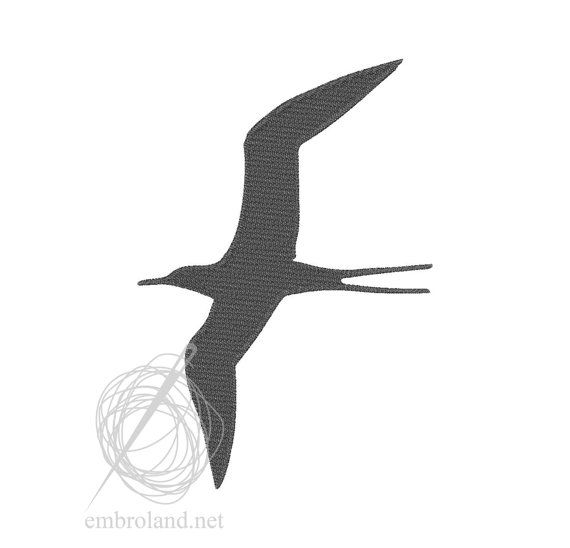 Bird Swallow Machine Embroidery Design Instant Download