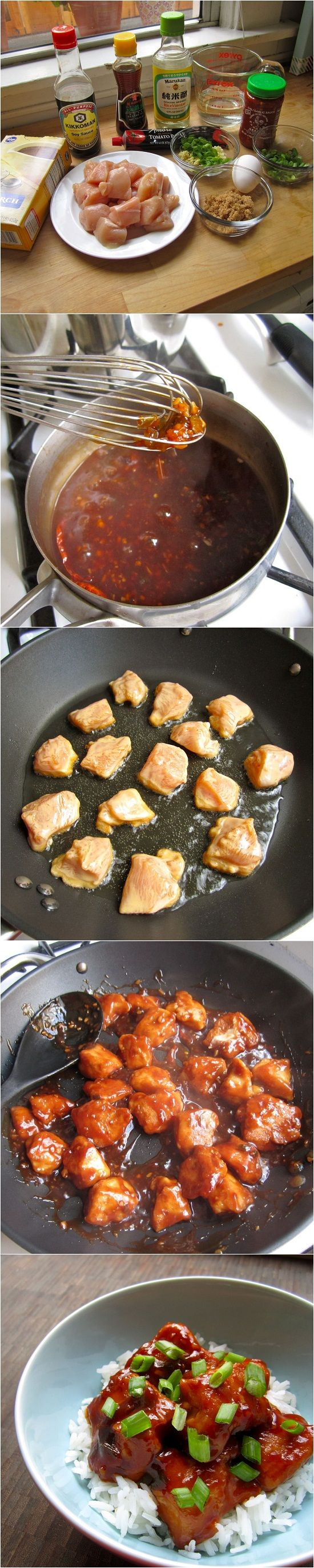 General tso's chicken. This is so easy and taste great
