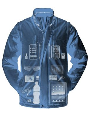 ScotteVest SeV Revolution jacket has 26 pockets, a removable hood, and removable sleeves.