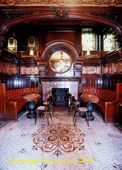 Philharmonic, Liverpool, Merseyside - Fireplace in Lobby Bar.It's still like that!