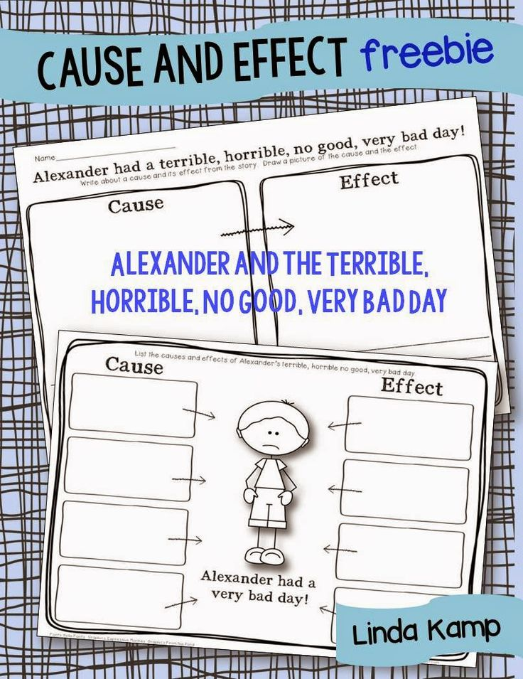 best growing little readers images reading  use this cause and effect printable to teach your kids using the book alexander