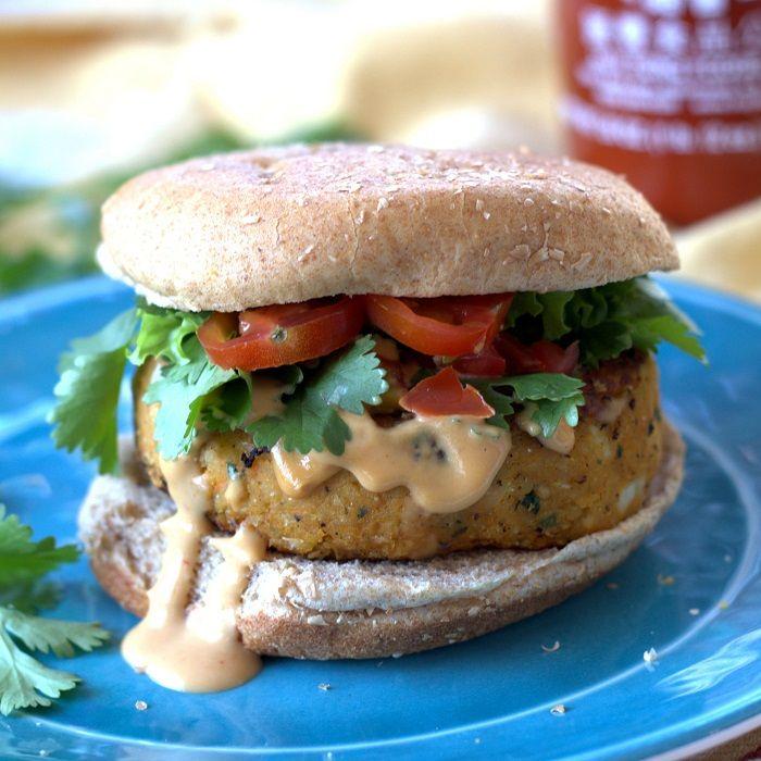 25 Creative Vegan Falael Recipes: Sweet Potato Falafel Burger