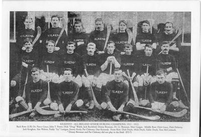 The Kilkenny hurling team, winners of the All-Ireland hurling title in 1911, 1912 and 1913 #Irish #History