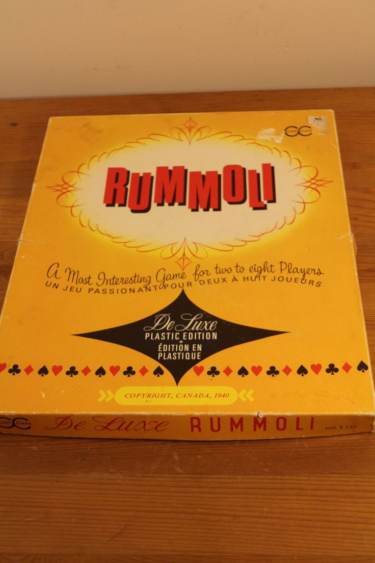For sale is a great vintage Rummoli Game made by Copp Clark a Canadian Company $22.50 via @shopseen