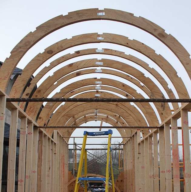 How To Build A Curved Roof Part 1 Joists Garden In