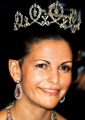 Queen Silvia wearing the Connaught Diamond Tiara (Sweden)