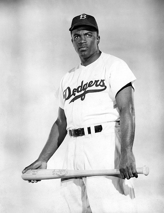 Jackie RobinsoJackie Robinson - the first African-American to play in the major leagues, in 1947. He endured physical and verbal abuse on and off the field, showing remarkable courage, while helping pave the way for the civil rights movementn - Brooklyn Dodgers