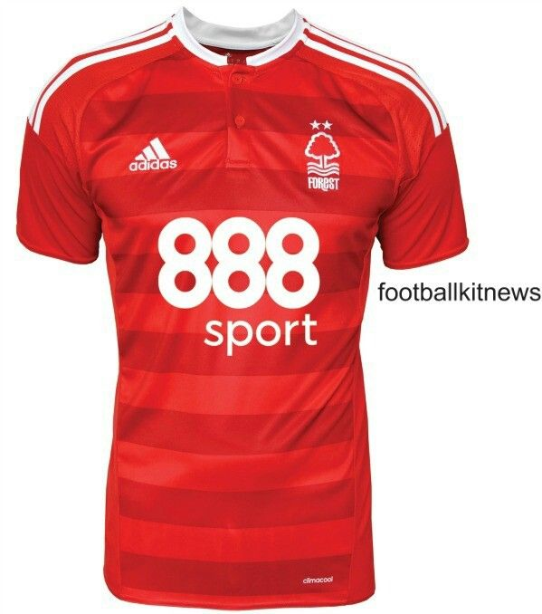 3255198f9d7 ... The Nottingham Forest home kit introduces a smart design in red and  white