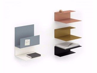 powder coated steel magazine rack wall shelf el wall konstantin slawinski