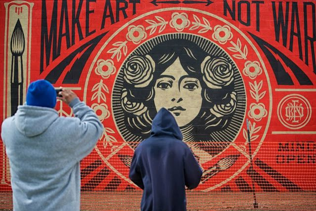 New Shepard Fairey Mural in Santa Fe (6 Pictures)