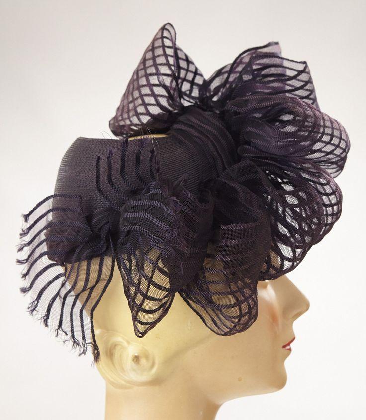 Howard Hodges Black Straw Hat w/ Horsehair Loops****PRICE REDUCTION****