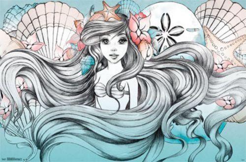 "Ariel Land or Sea - Disney Little Mermaid 34""x22"" Art Print Poster Trends International http://www.amazon.com/dp/B00O75OMJ4/ref=cm_sw_r_pi_dp_oLfUub1H8V0HK"