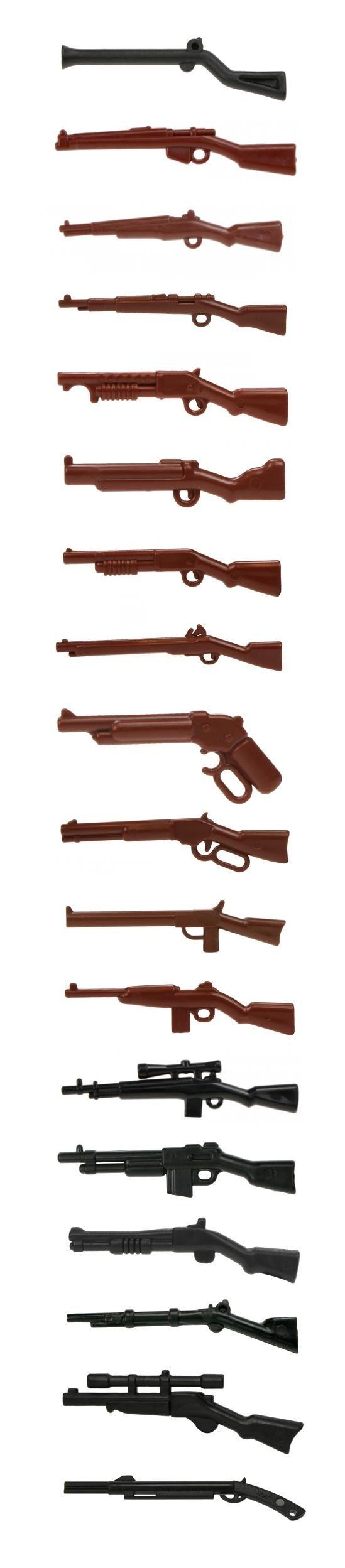 LEGO minifigure compatible long barrel guns