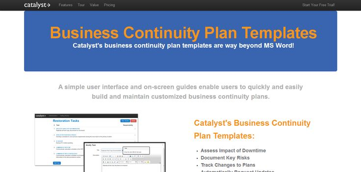 Business Continuity Plan Templates https\/\/bccatalyst - business contingency plan template