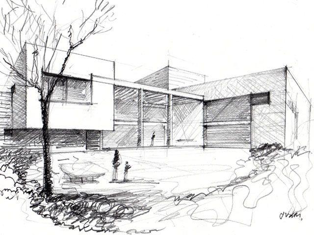 Dibujos+De+Arquitectura+A+Mano+Alzada