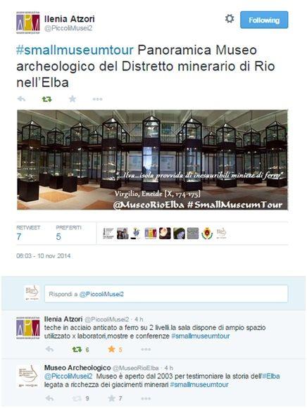 Ecco un pò di immagini catturate da #Twitter sulla #SmallMuseumTour , il tour virtuale guidato del Museo Civico Archeologico del Distretto minerario di Rio nell'#Elba! https://www.facebook.com/media/set/?set=a.737016629708382.1073741830.666210886788957&type=1