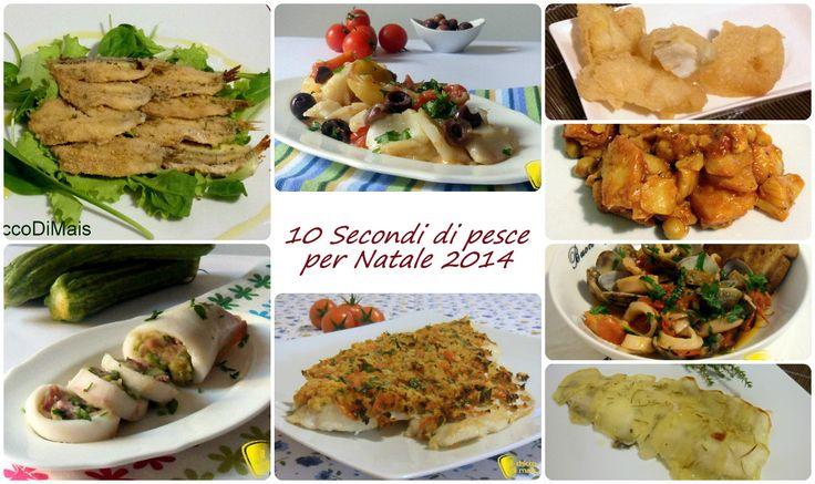 10 secondi di pesce per Natale 2014 (ricette facili). Idee per il menu della vigilia di Natale, con piatti di pesce economici da fare al forno o ai fornelli