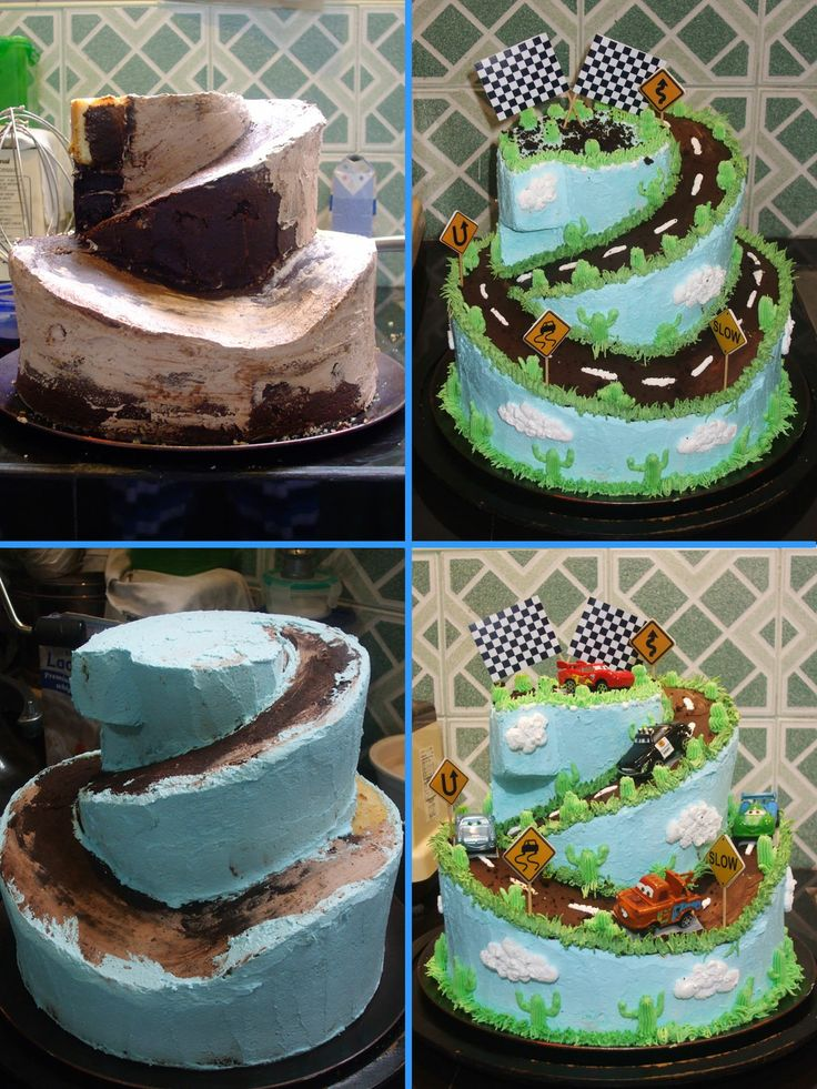Two-tier Cars Cake