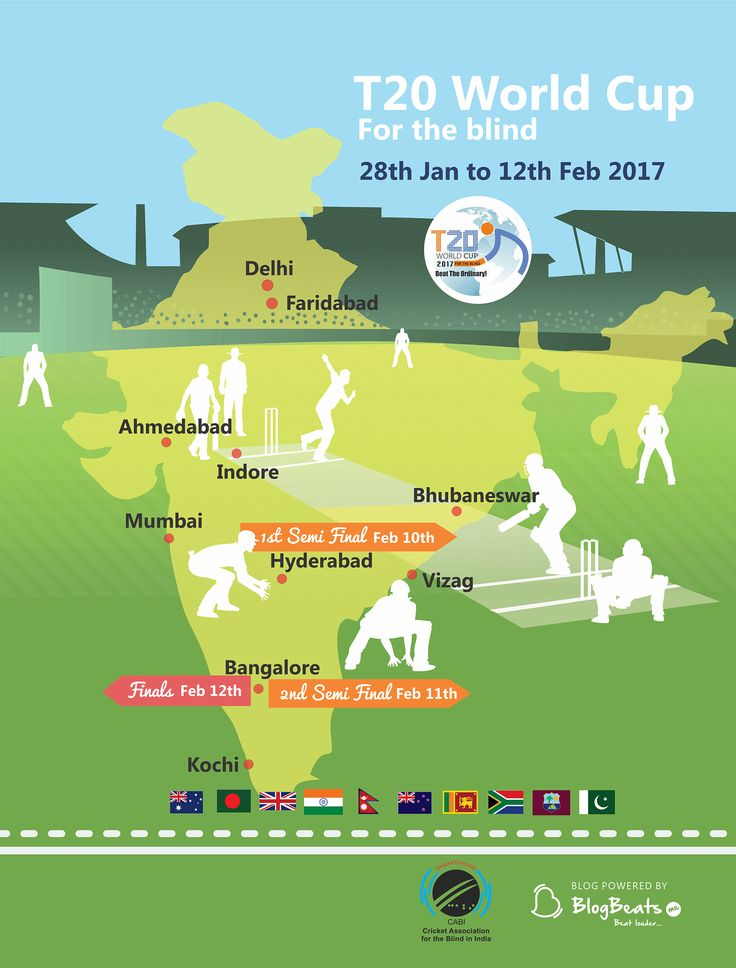 T20 World Cup 2017 (Blind) Schedule and TimeTable