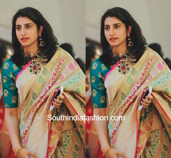 Brahmani Nara in a banaras silk saree photo