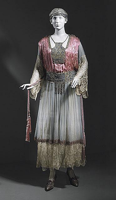 """1913 Callot Soeurs Party Dress - I can picture my grandmother in this dress.  She loved being """"dressed"""""""