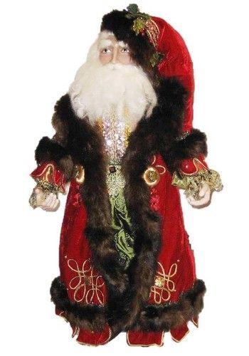 Inch old world santa claus figurine by katherine s