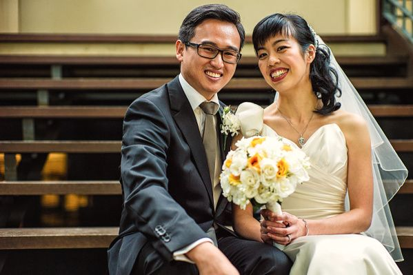 This gorgeous couple were married in a garden wedding in Melbourne.