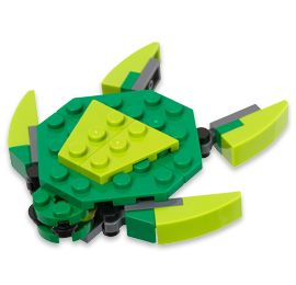 Celebrate EVERY month with a mini build!!!  Instructions to adorable small LEGO models...  Turtle is March 2013