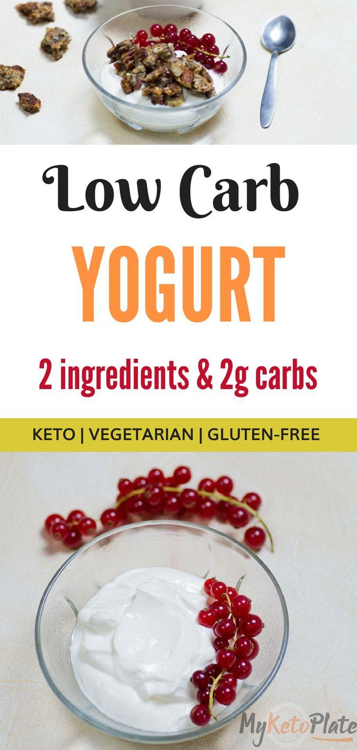 Low Carb Yogurt 2 Ingredients Keto Friendly Recipe Low Carb Yogurt Keto Diet Keto Diet Vegetables