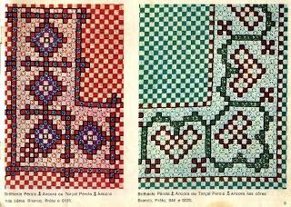 ** Li bordados **: Gráficos de bordado xadrez.