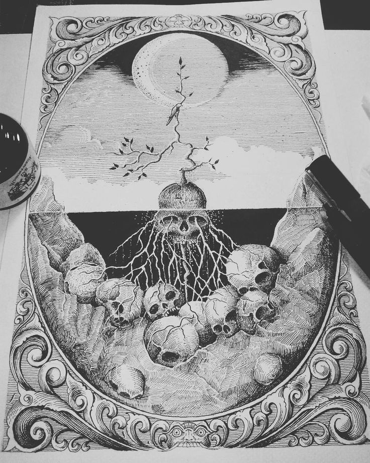 """Human was destroyed the nature. And now Nature the win.. kill kill kill!! #naturewins #artwork #drawing #inked #illustration #hitamputih #blackwork…"""