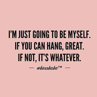 The best freedom is just being yourself.Join the #Bossbabe Netwerk™ (Click The Link In Our Profile Now! )