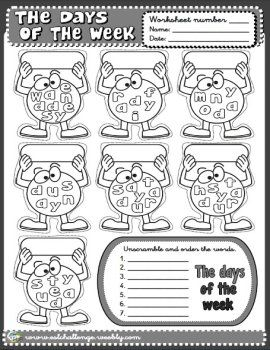 DAYS OF THE WEEK - WORKSHEET