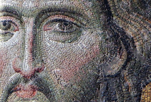 Christ's face (close), Deësis mosaic, Hagia Sophia  Undated Byzantine mosaic