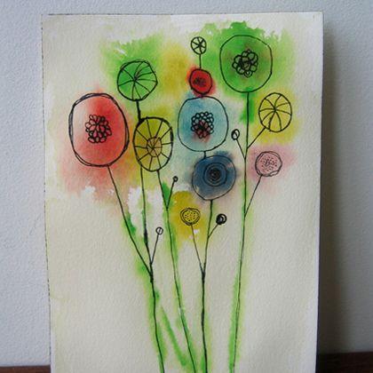 Technique de peinture aquarelle et autre pour les enfants ! Facile et de jolies idées !