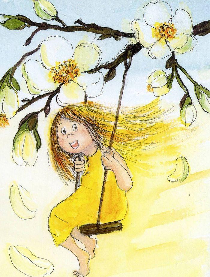 Рыжего смешного, рисунки про весну прикольные