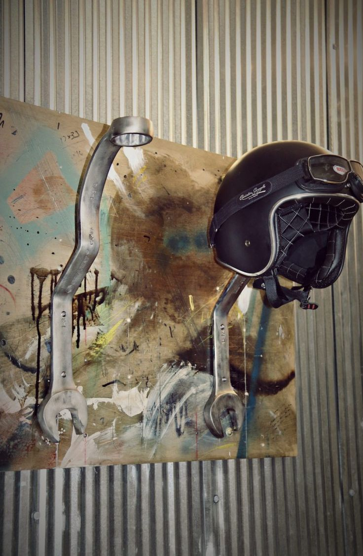 best 20 motorcycle decorations ideas on pinterest harley wrench motorcycle helmet rack