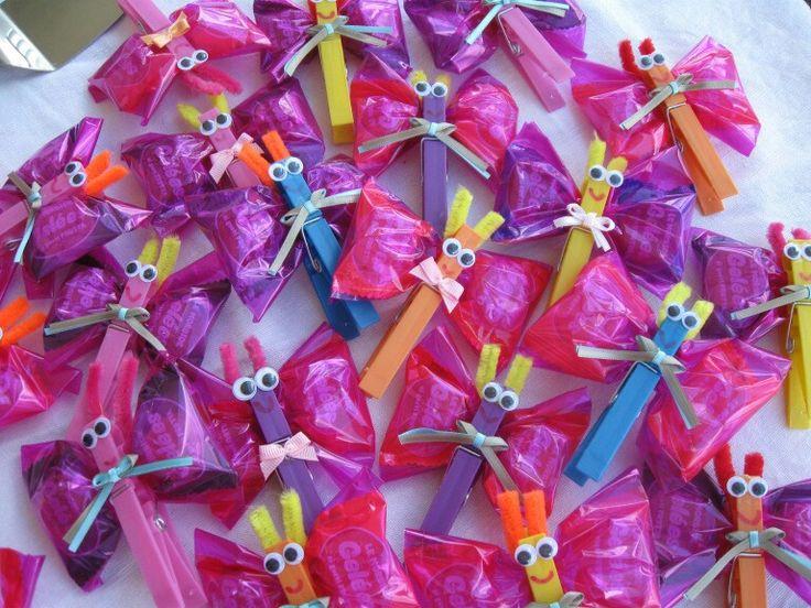 Regalini per il compleanno,farfalle porta caramelle
