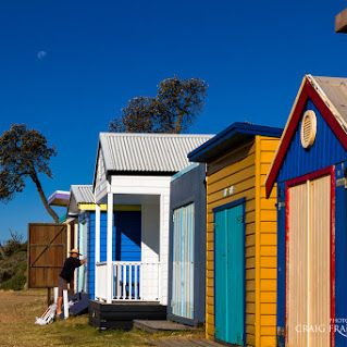 Compliment of Craig Francisco - Google+ These are 'Bathing Boxes' at Mt Martha beach on the Mornington Peninsular - Victoria, Australia