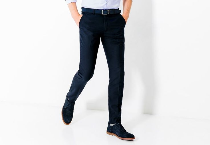 broek €40,vest €80 (?) Kostuumbroek slim   Marineblauw Mannen - Jules