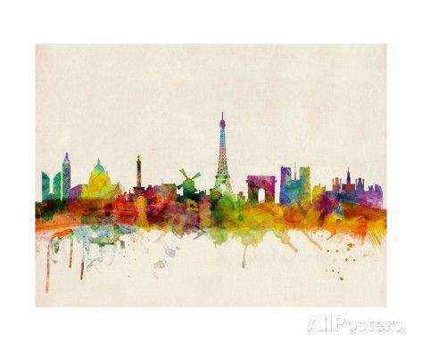 Skyline von Paris Fotografie-Druck