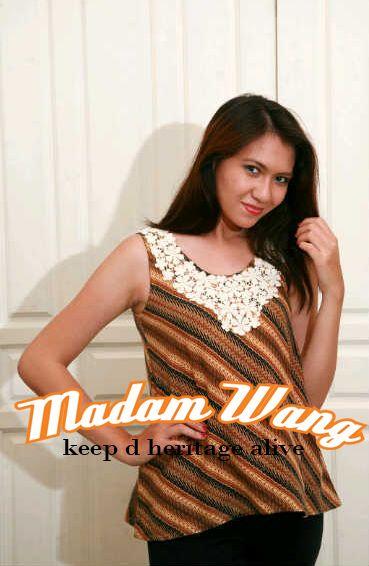 top batik lawasan with lace